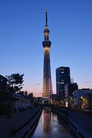 tokyo sky tree: The Tokyo Sky Tree in Tokyo, Japan  Stock Photo