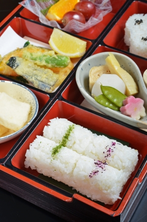 lunch box: Japanese vegetarian lunch box