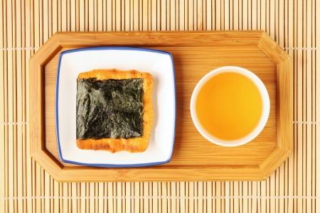 rice cake: Traditional Japanese rice crackers-Norimaki senbei