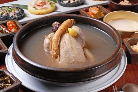korean food: Traditional korea food-Ginseng chicken soup