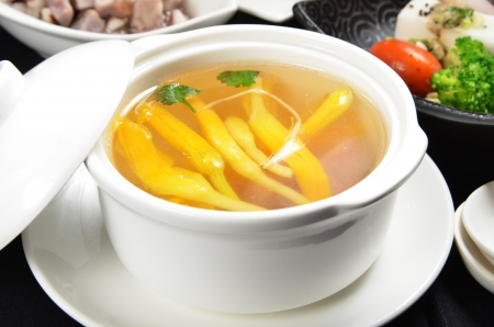 popular soup: Lily flower and sparerib soup - A Popular Taiwan food