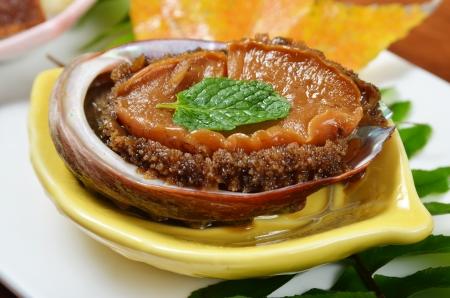 Abalone cook in Japanese style 版權商用圖片 - 24828690