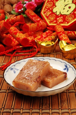 China s traditional New Year s dishes, red bean rice cake Reklamní fotografie - 25234266