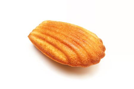 madeleine: Madeleine cookie on white