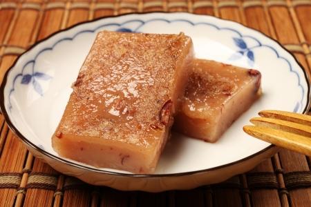 arroz chino: rojo pastel de arroz de frijoles