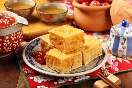 Taiwan famous snack - Stinky tofu     photo