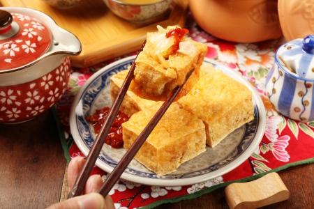 Taiwan famous snack - Stinky tofu 版權商用圖片 - 25324490