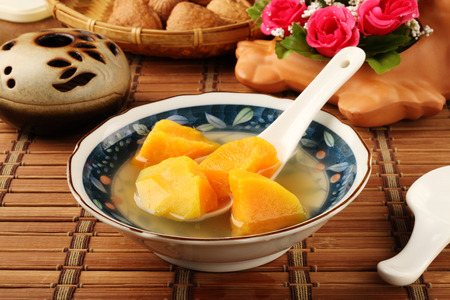 camote: Sopa de patata dulce de China Foto de archivo