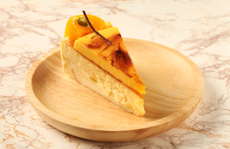 chees: Slice of delicious chees ecake on the table Stock Photo