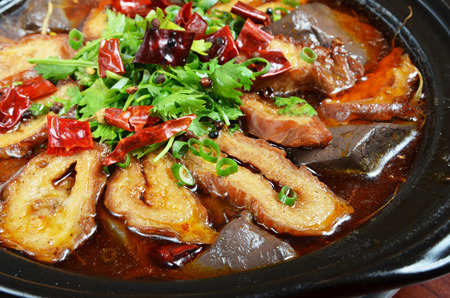 intestines: Chinese food- Spicy pig intestines pot