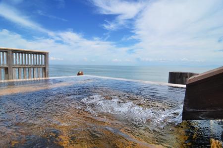 open air: Japanese open air hot spring (onsen)