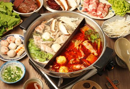 hot asian: Двухместный вкус горячий горшок