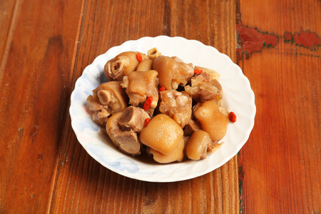 chinese pig: Chinese cuisine - Drunken pig trotters