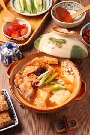 Kimchi hot pot  on the table Reklamní fotografie - 37167485