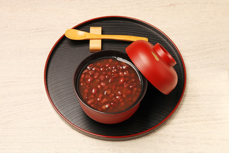 Traditional Japanese Dessert - Red bean sweet soup