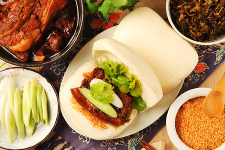?Gua Bao (Steamed sandwich )- A traditional Taiwan food