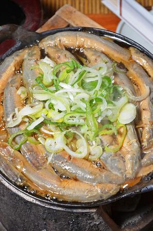 loach: Japanese cuisine - Dozeu nabe - Loach hot pot Stock Photo