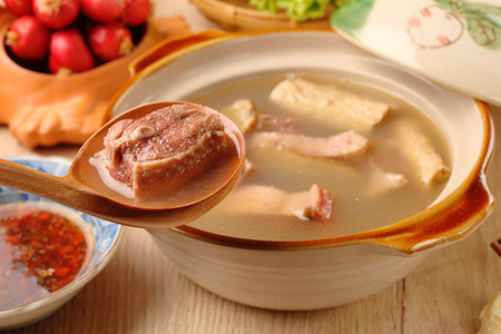 Ginger duck with rice wine - A Popular Taiwan food Banque d'images