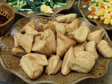 bean curd: Chinese cuisine Yunnan bake tofu Stock Photo