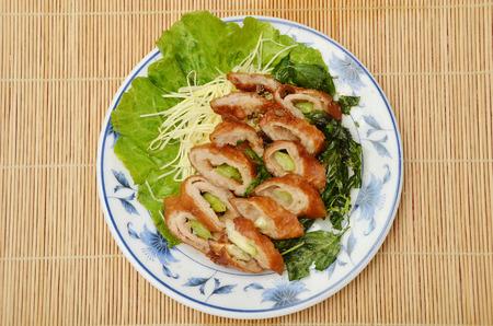 large intestine: Delicioso crujiente comida china intestino grueso Foto de archivo