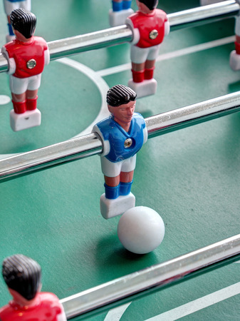 foosball: A closeup view of a Foosball table Stock Photo