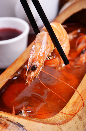 chinese wolfberry: Chinese wolfberry shrimp soup