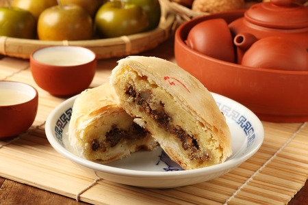 Taiwanese traditional cake on the plate