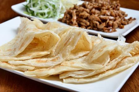 chinesisch essen: Chinese tradition food - Chinesische Pfannkuchen