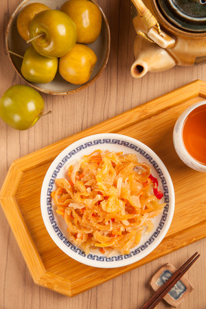 traditonal: Chinese seafood cuisine. Jellyfish salad