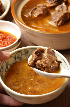 mutton: Mutton hot pot.