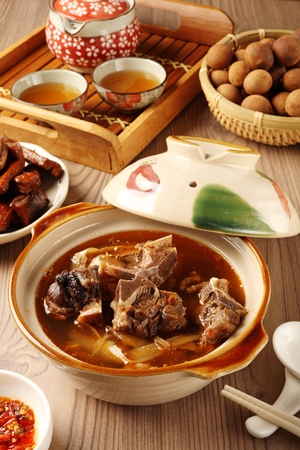 china cuisine: Mutton hot pot.