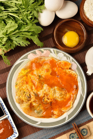 distinctive: The Taiwan distinctive traditional snack of oyster omelet