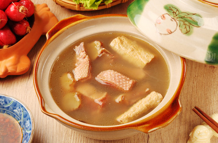 Ginger duck with rice wine - A popular Taiwan food