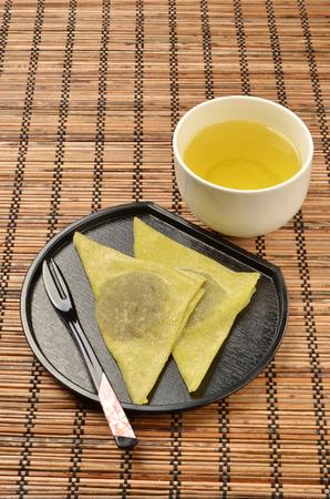 confectionery: Traditional Japanese confectionery - Yatsuhashi Stock Photo