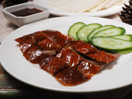 chinese ethnicity: A plate of Beijing Roast Duck