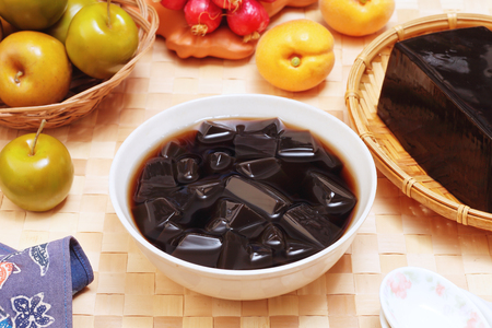 Grass jelly is a popular dessert in Taiwan