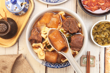 Braised beef noodles - a popular food in Taiwan