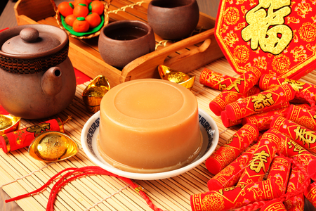 Gâteau de riz (pour le nouvel an chinois) Banque d'images - 66034821