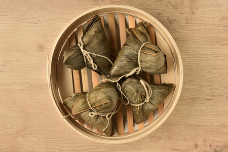 Chinese tradition food - steamed rice dumpling Stock Photo