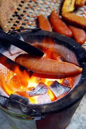 rôti de veau mulet sur charbon de bois
