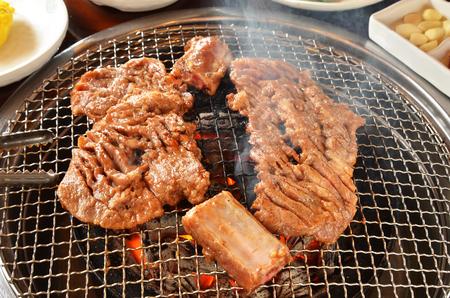 焼肉と呼ばれる韓牛バーベキュー 写真素材