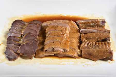 Marinated goose meat combination, Chinese food