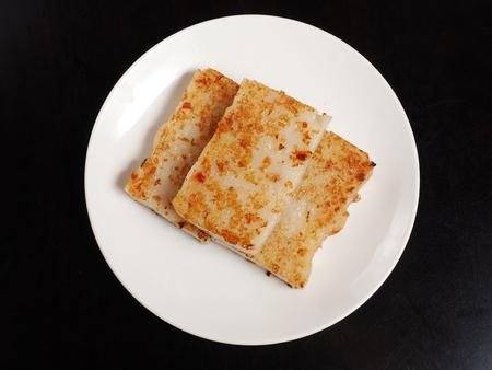 튀긴 된 순 무 케이크, 중국 음식입니다.