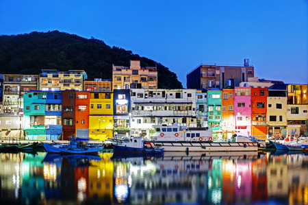Colorful houses in Keelung, Taiwan