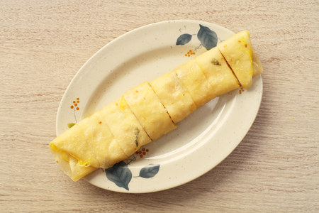 Egg pancake - A popular breakfast dish in Taiwan