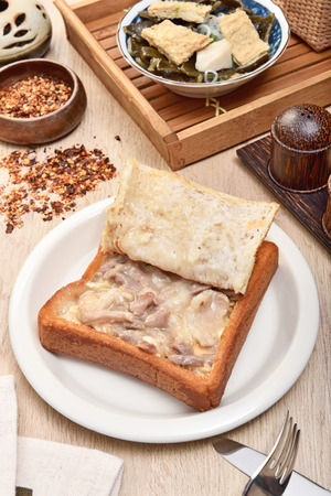 Coffin bread is a famous snack of Tainan in Taiwan Banque d'images