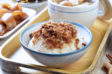 Taiwan famous food - Braised pork rice.