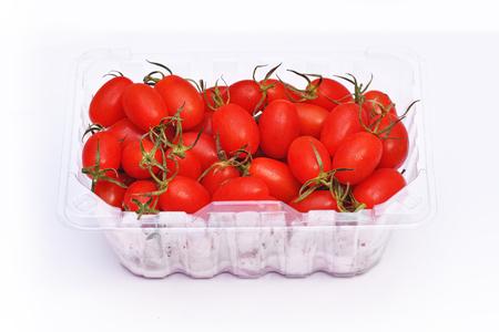 Cherry tomatoes on white background 写真素材