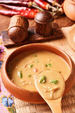 Green pork curry , Thai cuisine Reklamní fotografie