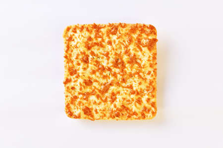 Baked corn cookies on white background